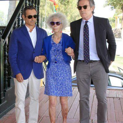 La Duquesa de Alba y Alfonso Díez en el torneo Ruta Vía de la Plata de hípica