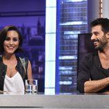 Megan Montaner y Hugo Silva en 'El Hormiguero'