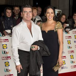 Simon Cowell y Lauren Silverman en los Pride of Britain 2014