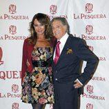 Jaime Ostos y María Ángeles Grajal en la entrega de los Premios La Pesquera 2014
