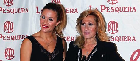 Nagore Robles y Rosa Benito en la entrega de los Premios La Pesquera 2014