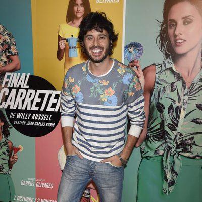 Javier Pereira en el estreno de 'Al final de la carretera'