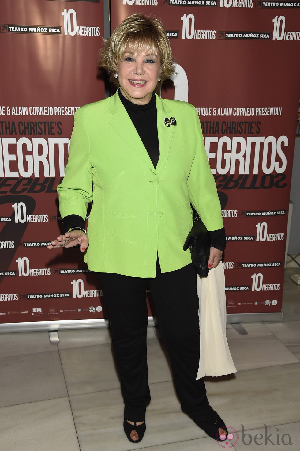Karina en el estreno de 'Diez Negritos'