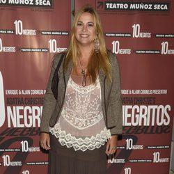 Loreto Valverde en el estreno de 'Diez Negritos'