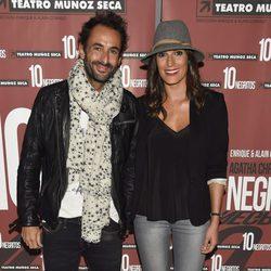 Verónica Hidalgo y Cuco de Frutos en el estreno de 'Diez Negritos'