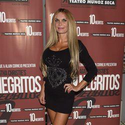 Yola Berrocal en el estreno de 'Diez Negritos'