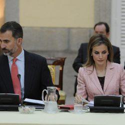 Los Reyes Felipe y Letizia en la reunión anual del Patronato del Instituto Cervantes