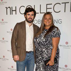 Caritina Goyanes y Antonio Matos en la apertura de un nuevo hotel en Madrid