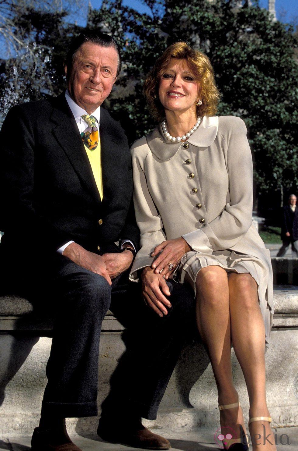 El Barón Thyssen y Carmen Cervera