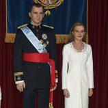 Figura de cera de los Reyes Felipe y Letizia