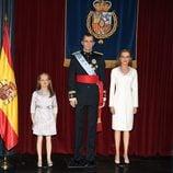 Figuras de cera de los Reyes Felipe y Letizia y de la Princesa Leonor