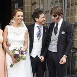 David de María y Lola Escobedo en su boda con Juan José Padilla