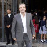 Josep Pedrerol en la boda de David de María y Lola Escobedo
