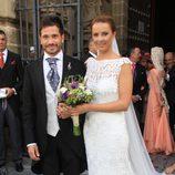 David de María y Lola Escobedo en su boda