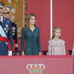 Los Reyes Felipe y Letizia, la Princesa Leonor y la Infanta Sofía en el Día de la Hispanidad 2014