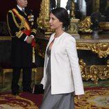 Xenia Tostado luce embarazo en la recepción del Día de la Hispanidad 2014