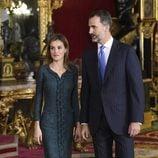 Los Reyes Felipe y Letizia en su primera recepción del Día de la Hispanidad como Reyes de España
