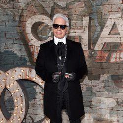 Karl Lagerfeld en la cena de celebración del spot de Chanel nº5
