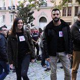 Antonio Velazquez y Dafne Fernandez en la manifestación contra la ley Lasalle
