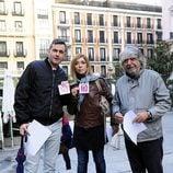Luis Miguel Segui, Eva Isanta y Ricardo Arroyo en la manifestación contra la Ley Lasalle