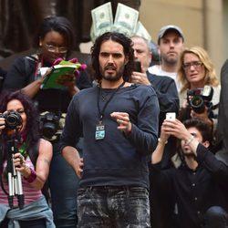 Russell Brand en las protestas de Occupy Wall Street