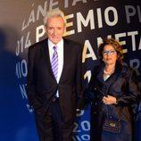Luis del Olmo en la entrega del Premio Planeta 2014