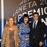 Irene Villa y su marido en la entrega del Premio Planeta 2014