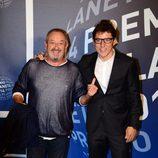 Karlos Arguiñano y Manel Fuentes en la entrega del Premio Planeta 2014