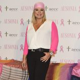 Terelu Campos en la campaña solidaria contra el cáncer de mama de Ausonia y la AECC
