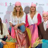 Bimba Bosé, Eva González, Terelu Campos y Marta Sánchez en la campaña solidaria contra el cáncer de mama
