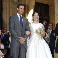 Leire Martínez y Jacobo Bustamante el día de su boda