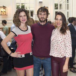 Lidia San José, Raúl Arévalo y Alicia Rubio en la fiesta de aniversario de un hotel