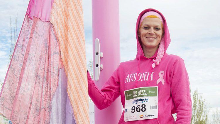 Bimba Bosé en una carrera solidaria contra el cáncer de mama en Madrid