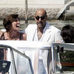 Stanley Tucci y su mujer Kate en el festival de cine de la Mostra de Venecia