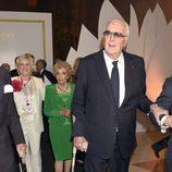 Hubert de Givenchy en la inauguración de su exposición en el Museo Thyssen