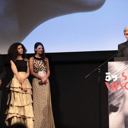 Imanol Arias, Irene Visedo y Emilio Aragón en la Seminci 2014 de Valledolid