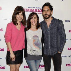 Alexandra Jiménez, Juana Macías y Paco León en la presentación de 'Embarazados'