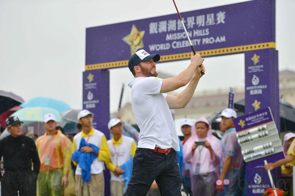 Chris Evans en el evento de golf '2014 Mission Hills World Celebrity Pro-Am' de Haikou, China
