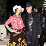 Tim Allen y Jane Hajduk en la fiesta 'Casamigos Tequila Halloween Party'
