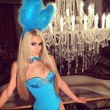 Paris Hilton celebrando Halloween en Beverly Hills