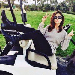 Úrsula Corberó durante una jornada de golf