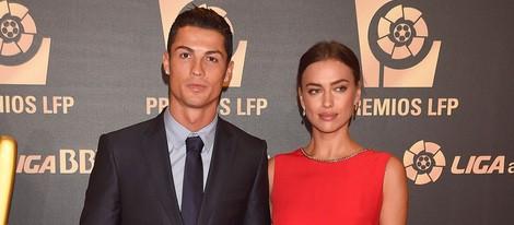 Cristiano Ronaldo e Irina Shayk en la entrega de los Premios de la Liga de Fútbol Profesional 2014