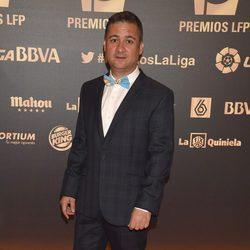 Secun de la Rosa en la entrega de los Premios de la Liga de Fútbol Profesional 2014