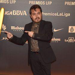 Jimmy Barnatán en la entrega de los Premios de la Liga de Fútbol Profesional 2014