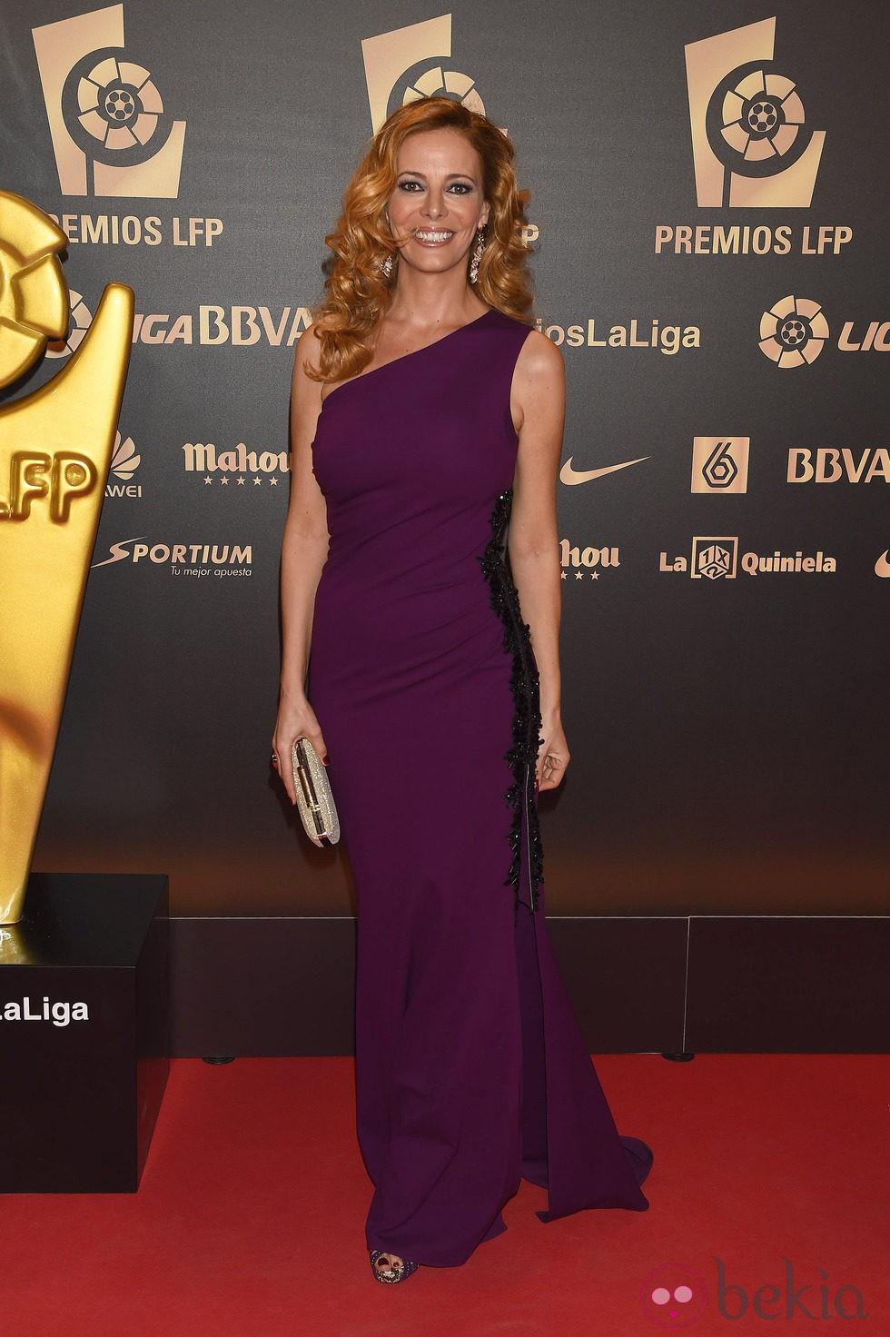 Paula Vázquez en la entrega de los Premios de la Liga de Fútbol Profesional 2014