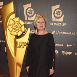 Inés Ballester en la entrega de los Premios de la Liga de Fútbol Profesional 2014