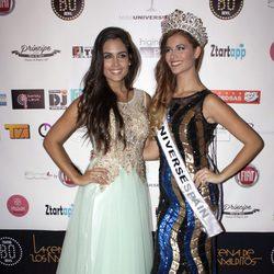 Patricia Yurena, Miss España 2013, con Desiré Cordero, Miss España 2014