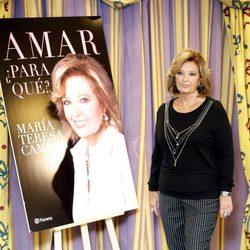 María Teresa Campos en la presentación de su séptimo libro 'Amar ¿Para Qué?' en Madrid