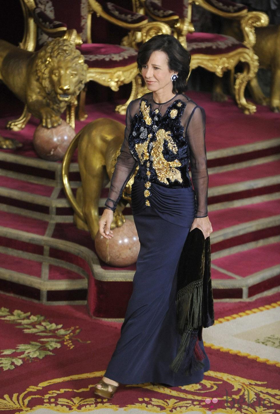 Ana Patricia Botín en la cena de gala ofrecida por los Reyes Felipe y Letizia a Michelle Bachelet