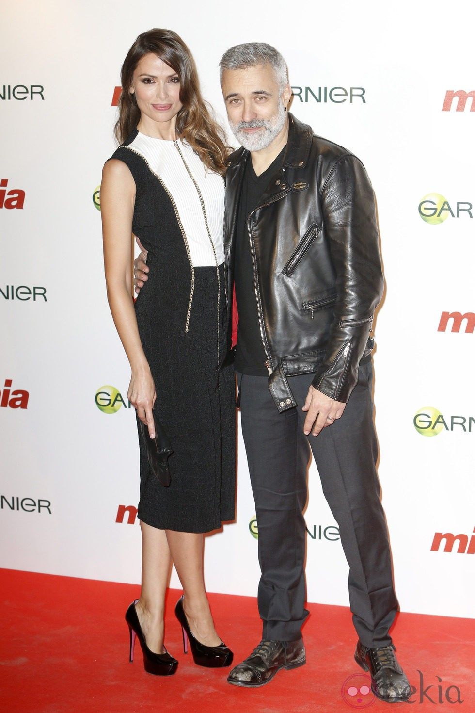 Almudena Fernández y Sergi Arola en la entrega de los Premios Cuida de ti 2014